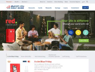 gulfbank.com.kw screenshot