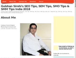 gulshansirohi.com screenshot