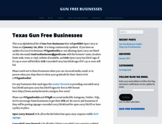gunfreebusinesses.wordpress.com screenshot