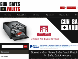 gunsafesplusvaults.com screenshot