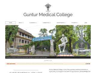 gunturmedicalcollege.edu.in screenshot