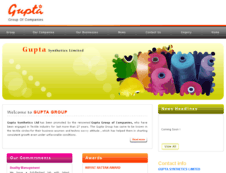 guptasynthetics.com screenshot