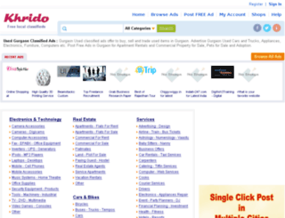 gurgaon.khrido.com screenshot