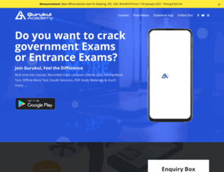 gurukulacademia.com screenshot