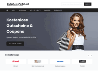 gutschein-portal.net screenshot