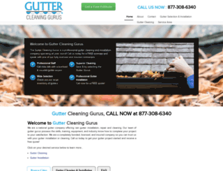 guttercleaninggurus.com screenshot