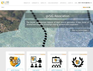 gvsig.com screenshot