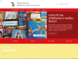 gymhron.edupage.org screenshot