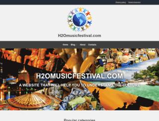 h2omusicfestival.com screenshot