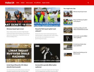 haber24saat.net screenshot