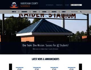 habershamschools.com screenshot
