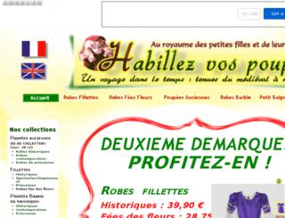 habillezvospoupees.com screenshot