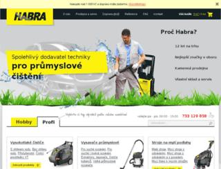 habra.webovy-servis.com screenshot