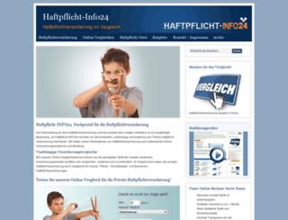haftpflicht-info24.de screenshot