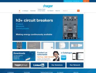 hager.co.in screenshot