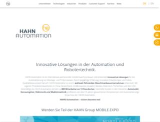 hahnautomation.com screenshot