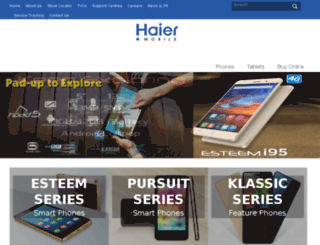 haiermobile.com.pk screenshot