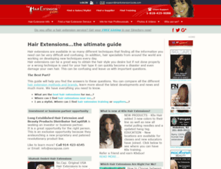 hairextensionguide.com screenshot
