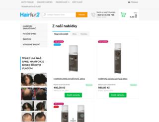 hairfor2.cz screenshot