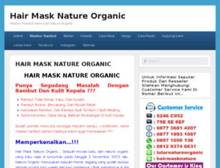 hairmasknatureorganic.com screenshot
