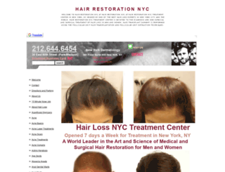 hairrestorationnyc.org screenshot