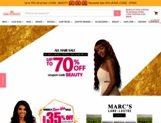 hairtobeauty.com screenshot