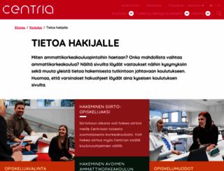 hakeminen.centria.fi screenshot