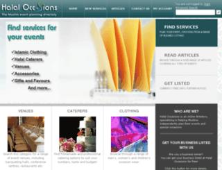 halaloccasions.com screenshot