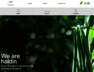 haldin-natural.com screenshot