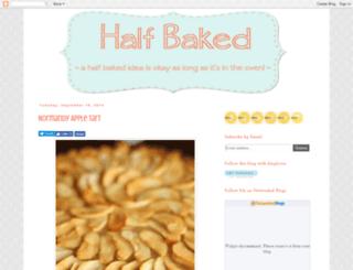 half-bakedbaker.blogspot.com screenshot