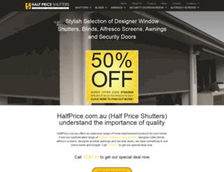 halfprice.com.au screenshot