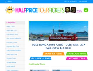 halfpricetourtickets.com screenshot