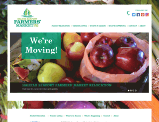 halifaxfarmersmarket.com screenshot