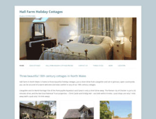 hallfarmholidaycottages.co.uk screenshot