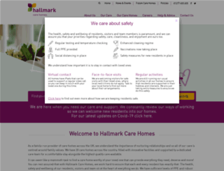 hallmarkcarehomes.co.uk screenshot