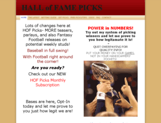 halloffamepicks.com screenshot
