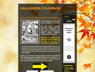 halloweencolorings.blogspot.com.au screenshot