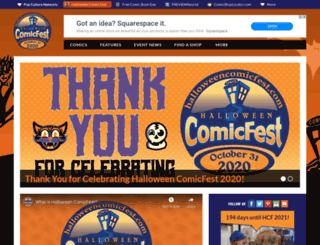 halloweencomicfest.com screenshot