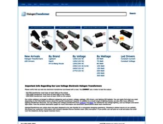 halogentransformer.com screenshot