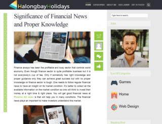 halongbayholidays.com screenshot