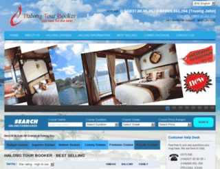 halongtourbooker.com screenshot