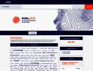 halshs.archives-ouvertes.fr screenshot
