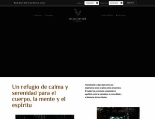 hamadryade-lodge.com screenshot