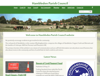 hambleden.org.uk screenshot