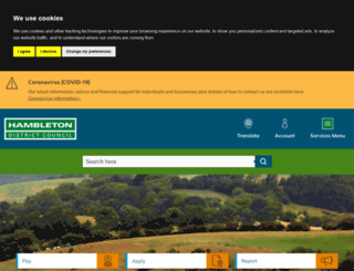 hambleton.gov.uk screenshot