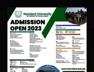 hamdard.edu.pk screenshot