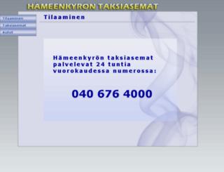 hameenkyrontaksiasemat.fi screenshot