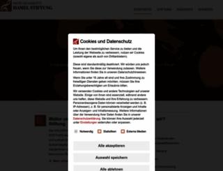 hamel-stiftung.de screenshot