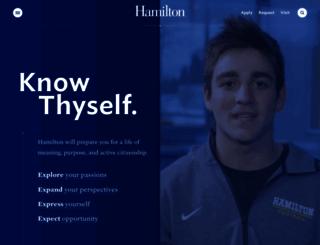 hamilton.edu screenshot