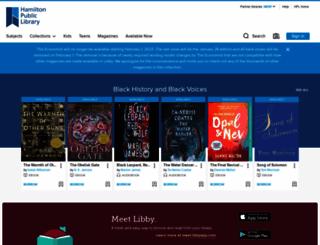 hamilton.libraryreserve.com screenshot
